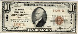 1929 10 The Mahoning National Bank Of Youngstown Ohio Oh B009876a Charter 2350