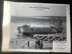Ww2 Confidential 1942 Darby Corp Off. Photo Lct Mark 4 294 Launch D-day Sunk