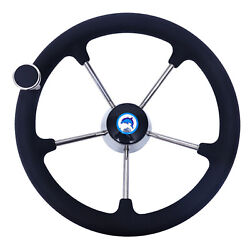 13-1/2 Boat Steering Wheel Stainless Steel With Knob Nut Marine Yacht