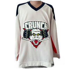 Syracuse Crunch Game Official Jersey 26 Canzanello Reebok W/ Fight Strap