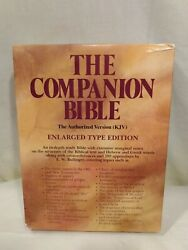 The Companion Bible Kjv Enlarged Type Edition With Hebrew And Greek