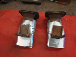 2 Nos Oem Gm 1956 56 Buick Tail Pipe Extension Exhaust Tip Landr Tips Roadmaster