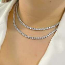 Beautiful 925 Sterling Silver Moissanite Unisex Tennis Chain And039and03922and039and039 Inch