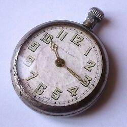 Ww1 British Army Pocket Watch The Marvel Vintage Fob Antique Wwi Trench