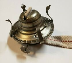 2 Antique Brass Finish Oil Burner And Wick And Removable Screw On Collar 12621ajb