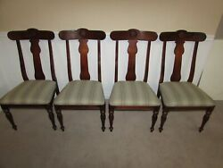 Ethan Allen British Classics Side Chairs, Set Of 4 Dining Room Chairs 29-6400 S