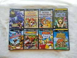 Lot Of 8 Game Cube Games - Pokemon Xd + Parper Mario + More Rare With Manuals