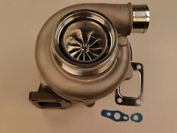 V-band .63 A/r Ball Bearing Billet Turbo Charger Gtx3076r Gt30 T3 A/r .60 Front