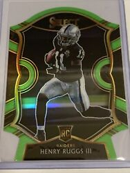 Henry Ruggs Iii 2020 Panini Select Ssp Rc Die-cut Lime Concourse Prizm🏈🔥