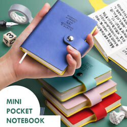 Mini Pocket Pu Leather Journals Business Notebook Lined Diary Planner 4x3