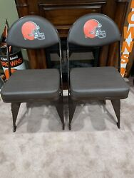 Official Cleveland Browns Locker Room Chairs Game Used A Pair Stadium Use