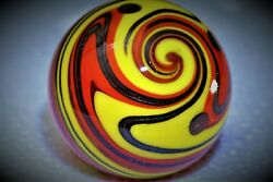 Handmade Marble Gold Stone  1 1/2 + Inches Beautiful Design,