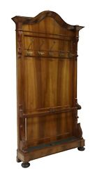Antique Hall Tree, Louis Philippe Period Walnut, French, 1800's,19th C Handsome