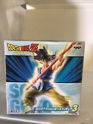 New Dragon Ball Z Goku Prefabricated Action Pose Figure 3 Japan Official Sealed