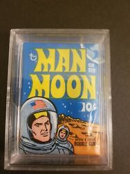 Man On The Moon Trading Cards Wax Pack Topps 1965 Vintage