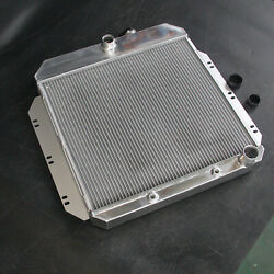 Fit 60-62 Chevrolet Chevy Series 3row L6 52mm Aluminum Radiator At 1649