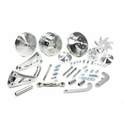March Performance 22020 Pulley Kit Serpentine Aluminum For Chevy Small Block New