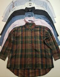 Lot Of 7 Button Front Shirts Dress Shirts Long Sleeve Mens Size 2x