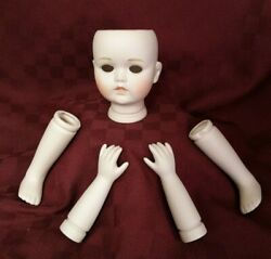 Doll Parts Kit Art Crafts Head Legs Arms Porcelain Doll Making 8573a