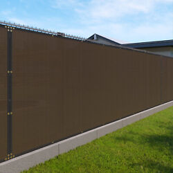 6ft Large 170gsm Fence Privacy Screen Shade Cover Mesh Garden Padio-brown