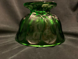 Forest Green Depression Glass Candy Dish