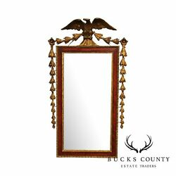 Antique 19th Century Federal Style Gilt Eagle Carved Wall Mirror