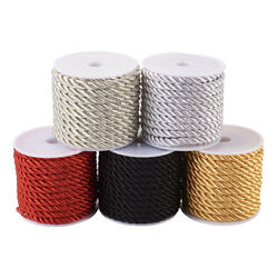5 Roll 5mm Polyester Twisted Cord Threads Sewing Waxed Crafting Beading String