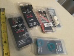 """Lot Of 5 Morbid Metals Kaos Software 7/16"""" And 9/16 Silicone Body Jewelry New"""