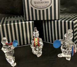 Waterford Crystal Jewels Clown Full Jazz Band Figurines Set W/ Boxes