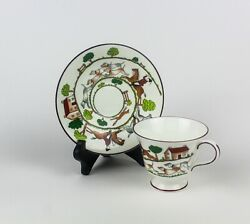 Coalport ☆ Hunting Scene ☆ Fine Bone China ☆ Footed Cup And Saucer Set