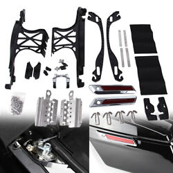 One Touch Opening Saddlebag Latch Lids Hardware Cover Hinge Kit For Harley 14-21