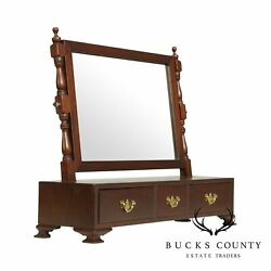 Suterand039s Handcrafted Chippendale Style Mahogany Shaving Mirror A