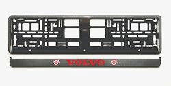 2x European License Number Plate Frames Holders Carbon Look For Volvo Cars