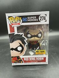 Funko Pop Dc Heroes Red Wing Robin 274 Hot Topic Exclusive W Protector