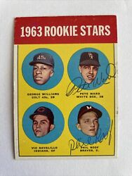 Phil Roof Pete Ward 1963 Topps Dual Autographed Signed Auto Baseball Card 324