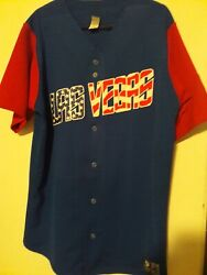 2012 Chris Woodward Signed Game Used Las Vegas 51s 4th Of July Jersey Jays Mets