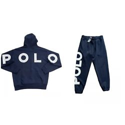 Polo Spell Out Double Knit Tracksuit Navy New W/tags Menandrsquos L