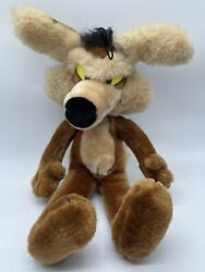 Vintage Wile E. Coyote Plush 16 Mighty Star Warner Bros Road Runner 1987 Euc