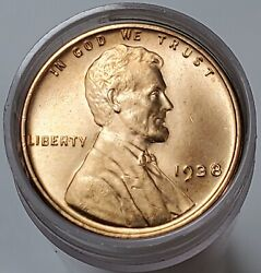Partial Gem Bu Roll 45 1938 P Uncirculated Lincoln Wheat Cents