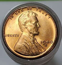 Partial Gem Bu Roll 45 1940 S Uncirculated Lincoln Wheat Cents