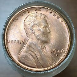 Gem Bu Roll 50 1946 S Uncirculated Lincoln Wheat Cents