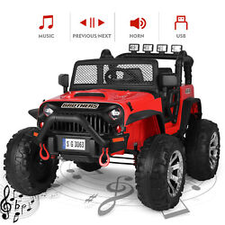 Battery Operated Kids Child Ride On Car Truck Remote Control 12v Led Music Horn