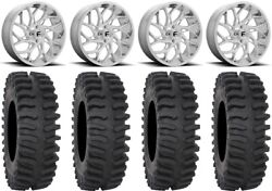 Fuel Runner 20 Wheels Polished 33 Xt400 Tires Can-am Renegade Outlander