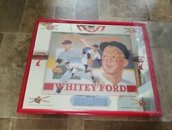 1996 Whitey Ford New York Yankees Ny Seagrams 7 Whiskey Back Bar Mirror Sign