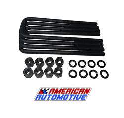 Dodge Ram 1500 2500 3500 14 Square Leaf Spring Axle U Bolts Extra Long 2wd