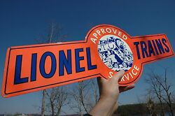 Old Style 30 Lionel Model Railroad Train Rr Toy Hobby Thick Steel Sign Usa Made