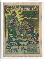 Single Splash Page From Timely Captain America 9 Golden Age