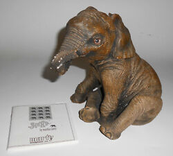 Vintage 1980s The Herd Marty Martha Carey Chit 2104 Sculpture Baby Elephant