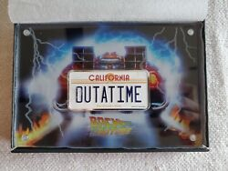 Back To The Future 2oz Silver License Plate Coin Outatime | Nib Ogp 0705