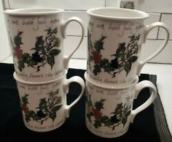 Portmeirion The Holly And The Ivy - Lot 4 Coffee/tea Mugs